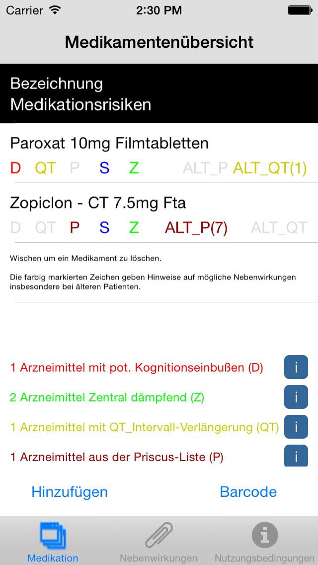 Screenshot Entwicklung Medi OK Apps